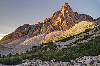The Prominent Tower in Upper Taboose Creek (sunrise)