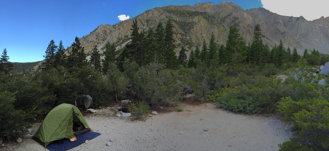 Iphone Shot of Camp in Taboose Creek