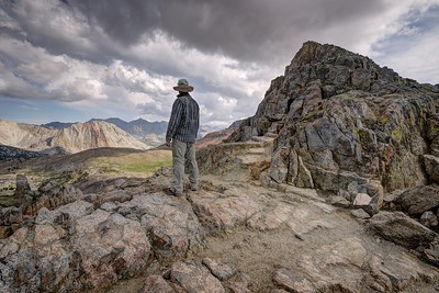 Self Portrait at Pinchot Pass (looking south)