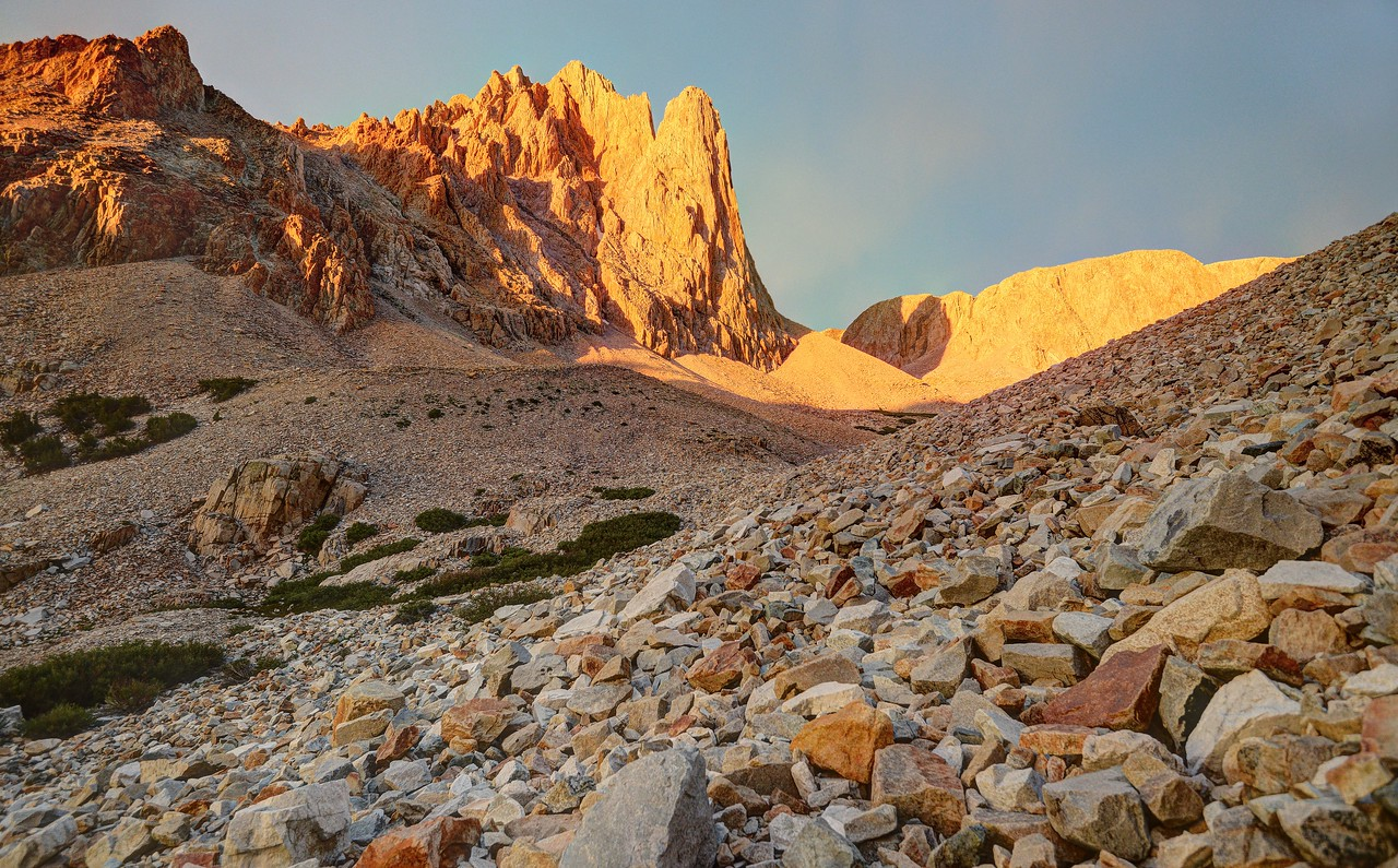 Alpenglow and Rocks (Taboose Creek)