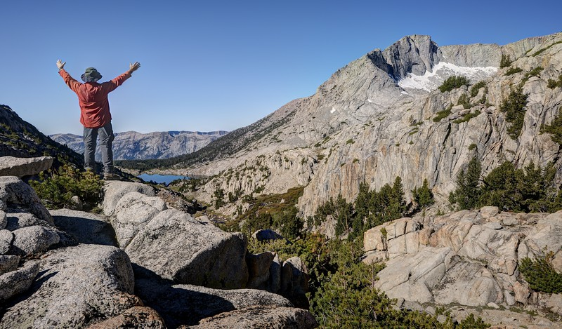 """Looking South Over Selden Pass (""""Reach for the sky"""")"""