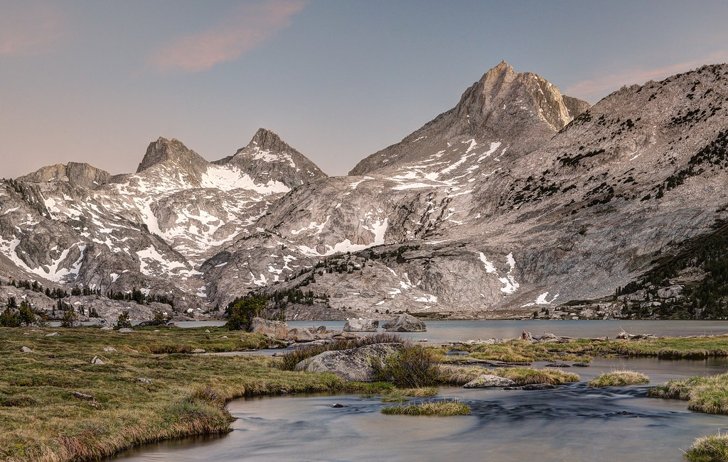 Mount Hooper and Rose Lake (evening)
