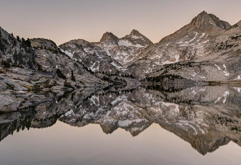 Reflections in Rose Lake (morning)