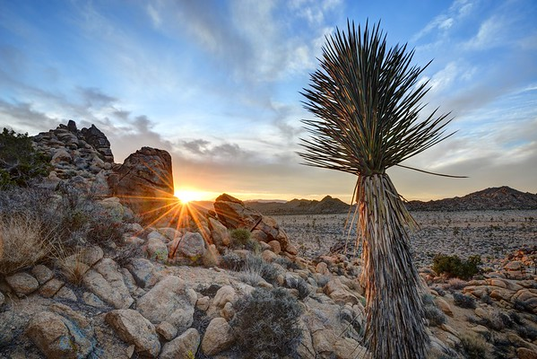 Sun Through Rocks