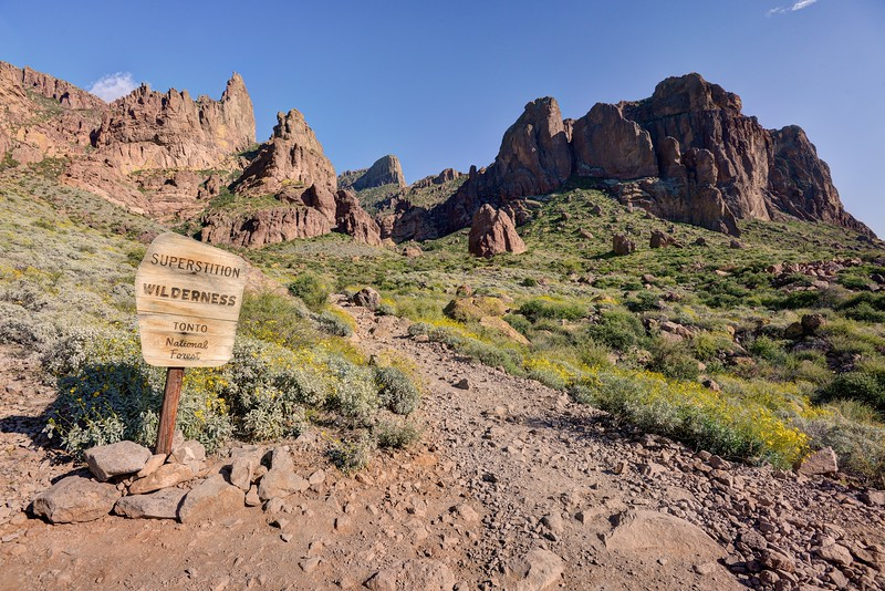 Entering the Superstition Wilderness