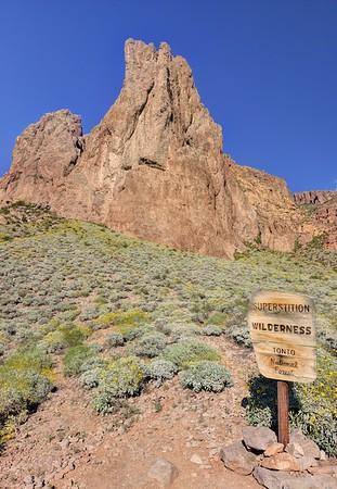 Entering the Superstition Wilderness