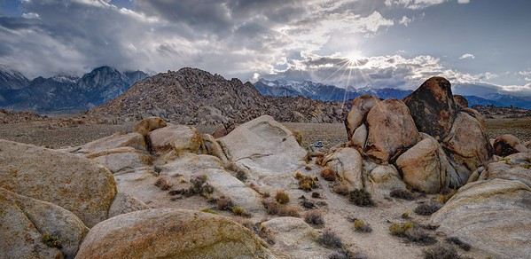 Stormy Sunset in the Alabama Hills
