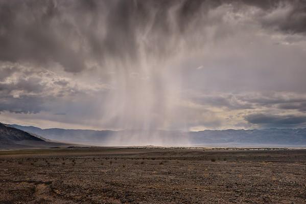 Rain Over the Mesquite Dunes