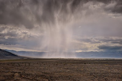 Rain Over the Mesquite Dunes