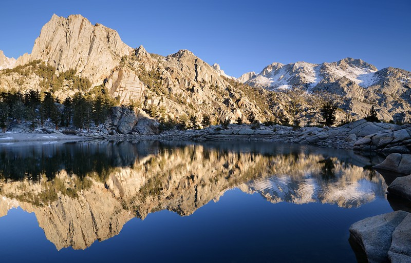 Thor Peak and Mount Carillon Reflected in Lone Pine Lake