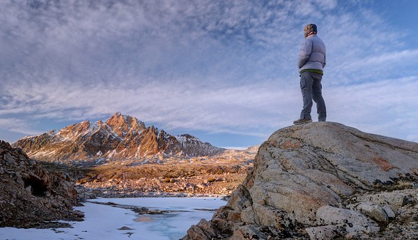 Self Portrait at Sunset (Mount Humphreys)