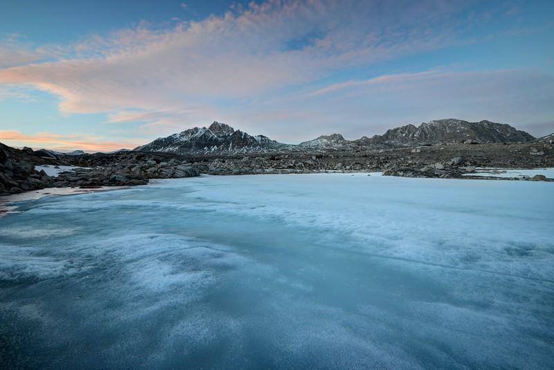 Mount Humphreys and a Frozen Tarn