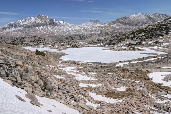 Mount Humphreys and Frozen Muriel Lake