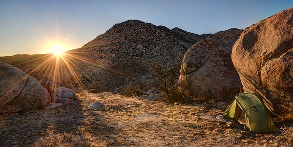 Tent Camping on Granite Mountain