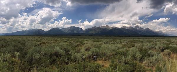 Teton Range From Near Highway 191
