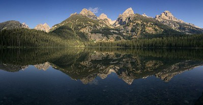 Tetons Reflected in Bradley Lake