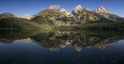 Tetons Reflected in Bradley Lake