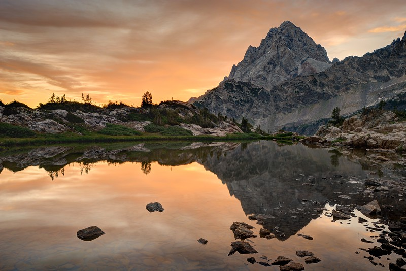 Grand Teton in Upper Cascade Creek