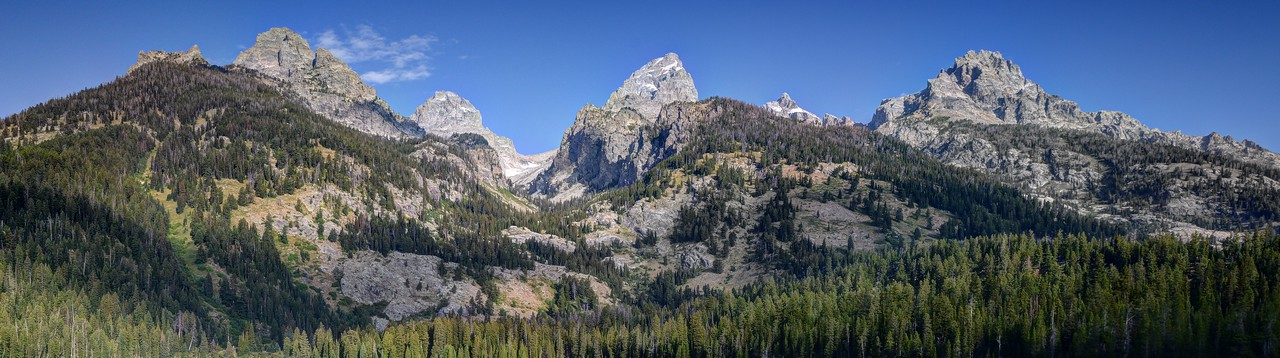 Tetons Above Bradley Lake