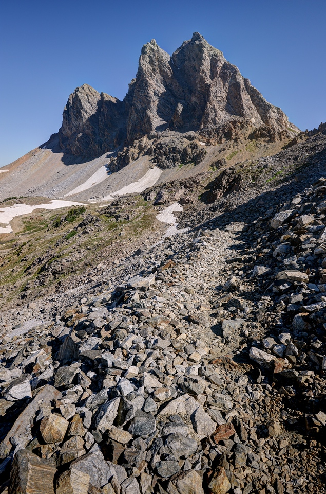 Buck Peak Near the Alaska Basin
