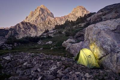 Camp in Upper Cascade Creek