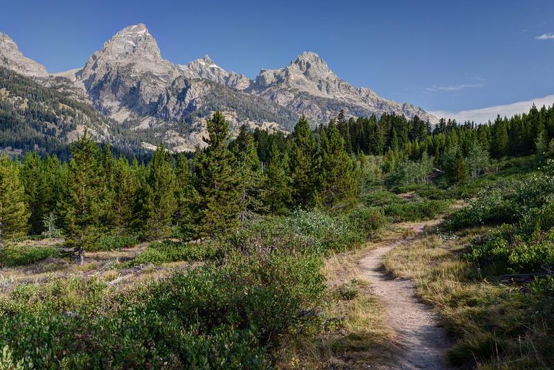 Tetons and the Bradley Lake Trail