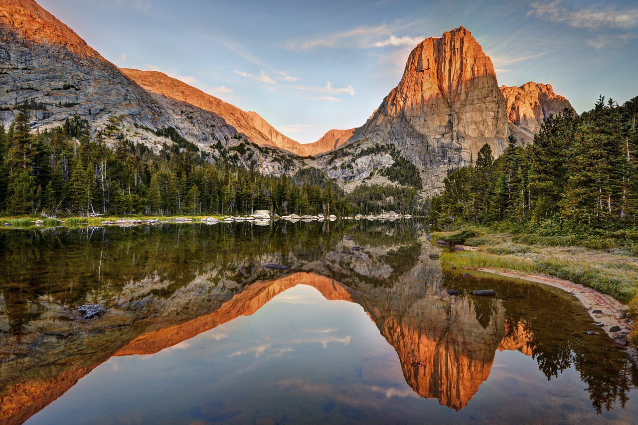 Sunrise at Upper Cathedral Lake