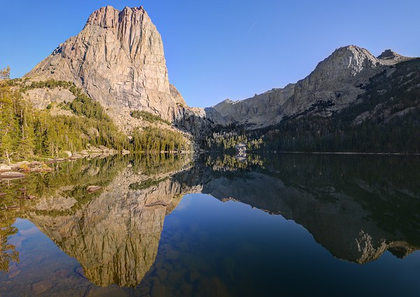 The Cathedral Reflected in Upper Cathedral Lake