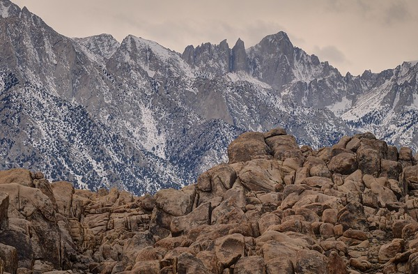 Mount Whitney and the Alabama Hills