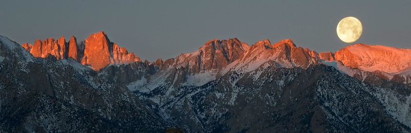 Mounts Whitney and Russell (Setting Moon)