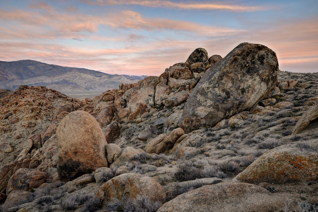 Alabama Hills and the Inyo Mountains