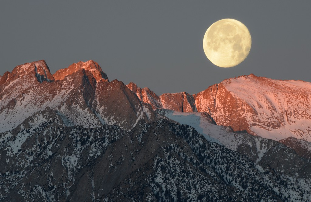 Moonset Over Mount Russell (14,094')