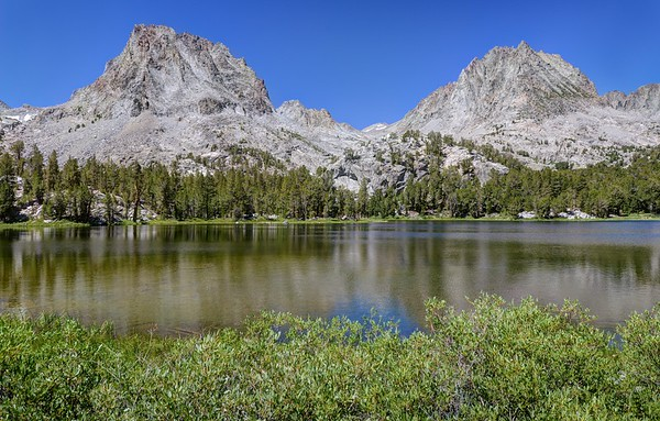 Mount Robinson and Two Eagle Peak with Fourth Lake