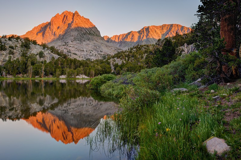 Two Eagle Peak (and Cloudripper) Reflected in Fourth Lake