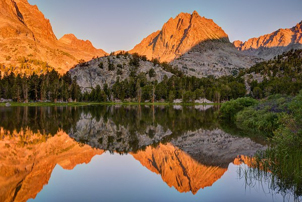 Two Eagle Peak Reflected in Fourth Lake