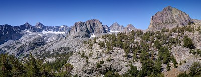 Mount Sill, Palisade Glacier, Mount Robinson, and Two Eagle Peak