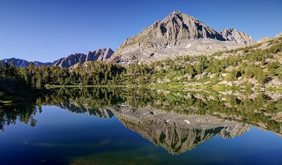 Two Eagle Peak Reflected in Seventh Lake