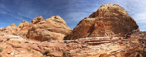 Sandstone  Hills Behind White Rock