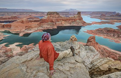 Enjoying the View of Lake Powell From Alstrom Point