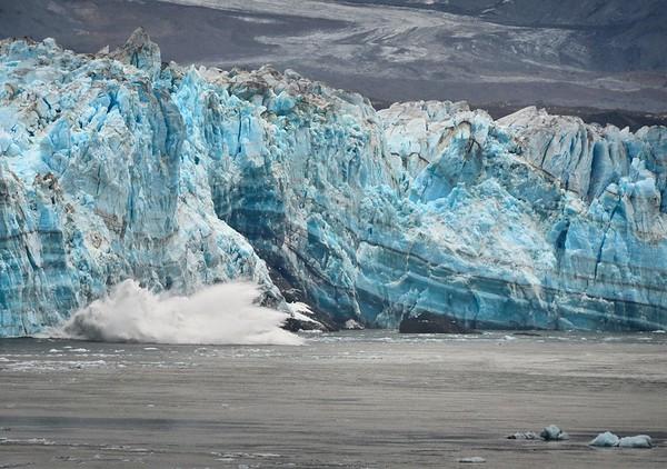 Calving of Hubbard Glacier