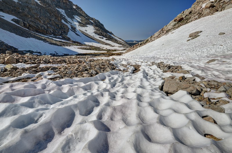 Sun cupped Snow Enroute to Iridescent Lake