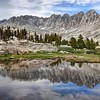 Mounts Mallory, LeConte, and Corcoran Reflected in the Basin