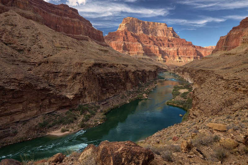 Chuar Temple and the Colorado River