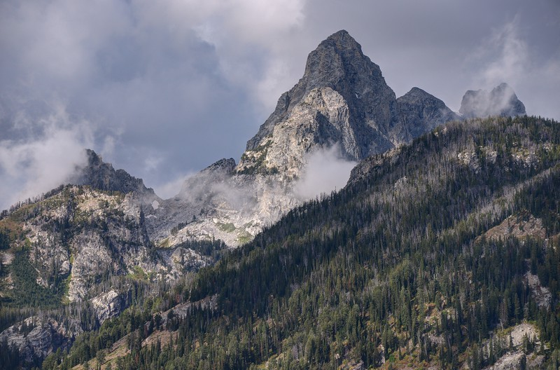 South Teton Among the Clouds