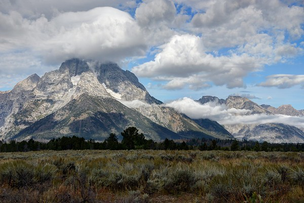 Mount Moran and Clouds