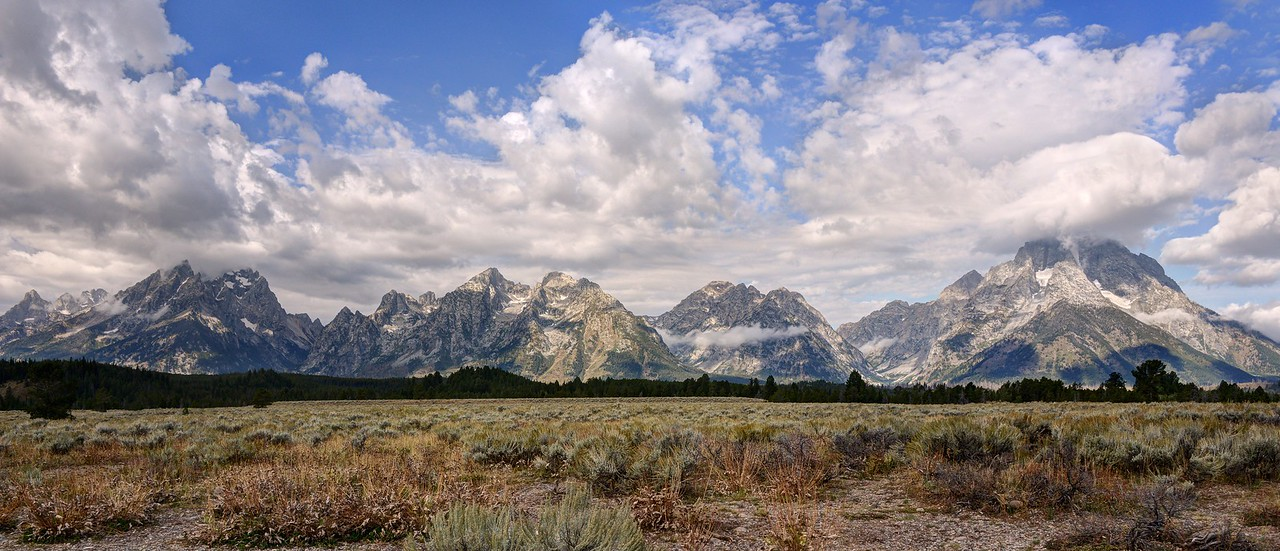 The Grand Tetons From East of Jenny Lake
