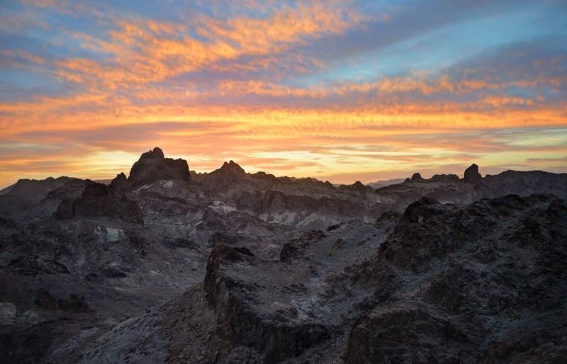 Sunset in the Indian Pass Wilderness