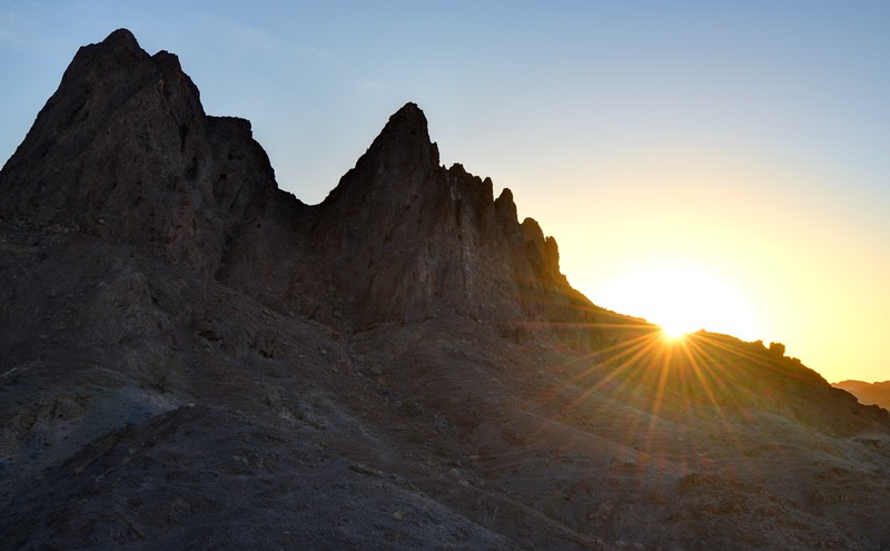 Sunrise Over Jagged Peaks