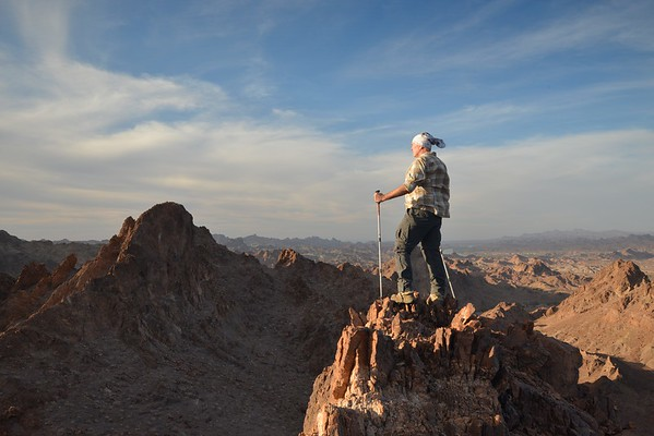 Hiker on an Unnamed Summit