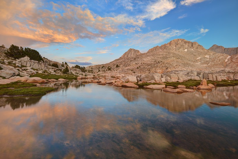 Sunset Reflections in the Granite Basin